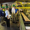 Rick Barbero/The Register-Herald<br /> Allegheny Wood Products in Smoot gave a tour of the plant after a dedication ceremony Monday morning.