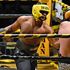 (Brad Davis/The Register-Herald) Kyle Bush, left, takes on Nathaniel McGilton during Saturday's Original Toughman Contest action at the Beckley-Raleigh County Convention Center.