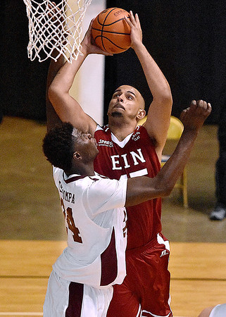 (Brad Davis/The Register-Herald) Depaul commit Levi Cook drives to the basket during the second game of the Scott Brown Classic Saturday night at the Beckley-Raleigh County Convention Center.