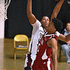(Brad Davis/The Register-Herald) Indiana University-bound Curtis Jones goes up for a dunk during the second game of the Scott Brown Classic Saturday night at the Beckley-Raleigh County Convention Center.