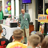 Roy Lee Cooke, from Coalwood in McDowell County, speaks to Raleigh County students during the annual recycling awards at the Solid Waster Authority  in Beckley.  Cooke was a founding member of the Big Creek Missile Agency and one of the original Rocket Boys. His character in the Universal Pictures film October Sky was played by William Lee Scott. (Chris Jackson/The Register-Herald)