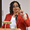 (Brad Davis/The Register-Herald) Keynote speaker Dr. Carolyn Stuart addresses attendees during the Fayette County Black Caucus's annual Martin Luther King Memorial Luncheon Saturday afternoon at the Oak Hill Holiday Lodge.