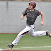 (Brad Davis/The Register-Herald) Woodrow Wilson's Brandon Chandler speeds around third as he goes all the way around the bases for an in-the-park homerun during the 4th inning of the Flying Eagles' win over Fayetteville Thursday afternoon at Linda K. Epling Stadium.