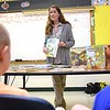 Audrey Stanton-Smith, local writer, spoke with students at Lester Elementary School during the schools Career Day. Total of ten vedors participated and students rotated every 10 minutes to hear them speak about their careers.<br /> (Rick Barbero/The Register-Herald)
