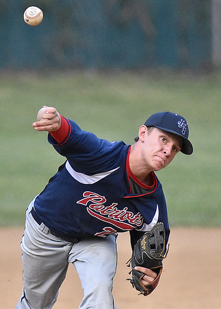 (Brad Davis/The Register-Herald) Independence starting pitcher Logan Stump delivers during the Patriots' win over Summers County Wednesday evening in Hinton.