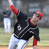 (Brad Davis/The Register-Herald) Greater Beckley Christian starting pitcher Cole Kipps delivers during the Crusaders' win over Man Thursday evening.
