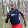 Independence's Marcus Guy competes in the 4x200m event during a track meet at Independence in Coal City on Tuesday. (Chris Jackson/The Register-HErald)