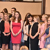 (Brad Davis/The Register-Herald) University of Charleston-Beckley graduates of the Occupational Therapy Assistant Program following a ceremony Friday night at Calvary Assembly of God. UC-Beckley's School of Health Sciences sent off its 2016 graduates from their OTA and Radiologic Technology programs with a special pinning ceremony at the Sunset Drive church.