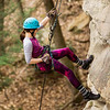 "Mazie Bowen, who was visiting Fayetteville recently from Athens, Ga., works to repel down a 80-foot cliff face at ACE in Minden. ACE offers a wide-range of outdoor activites for families and is a major tourist destination in the Mid-Atlantic. For more information visit  <a href=""http://www.aceraft.com"">http://www.aceraft.com</a> (Chris Jackson/The Register-Herald)"