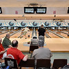 Teams compete during the opening day of a weekend adult state bowling league Sunday morning at Leisure Lanes.