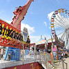 The Tilt and Dutch Wheel rides at the West Virginia State Fair in Fairlea.<br /> (Rick Barbero/The Register-Herald)