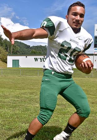 (Brad Davis/The Register-Herald) Wyoming East senior running back Uriah Adkins.