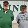 (Brad Davis/The Register-Herald) Wyoming East head coach Donnie Jewell, left, and offensive coordinator Jeff Simmons.