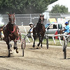 Harness racing held at the West Virginia State Fair in Fairlea.<br /> (Rick Barbero/The Register-Herald)