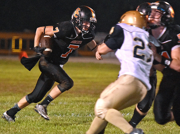 (Brad Davis/The Register-Herald) Summers County's Tucker Lilly against Shady Spring Friday night in Hinton.