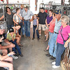 Bob and Carolyn Canterbury, of Sinks Grove, right, gets together with their three genearation family that raise and show pigs at the WV State Fair in Fairlea.<br /> (Rick Barbero/The Register-Herald)