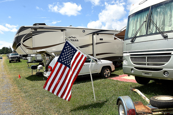 Campers at the West Virginia State Fair in Fairlea.<br /> (Rick Barbero/The Register-Herald)