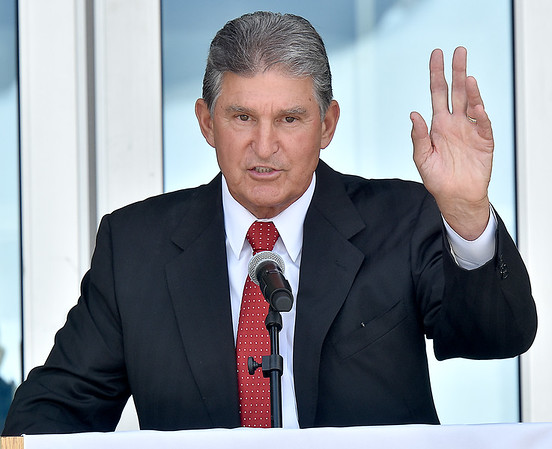 (Brad Davis/The Register-Herald) Senator Joe Manchin speaks during an open house and ribbon cutting ceremony for new Student Center on the campus of the West Virginia School of Osteopathic Medicine Friday afternoon in Lewisburg.