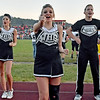 (Brad Davis/The Register-Herald) Westside cheerleaders perform during the Renegades' season opener against Liberty in Glen Daniel.