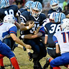 (Brad Davis/The Register-Herald) Meadow Bridge running back Shane Forren Friday night at Meadow Bridge.