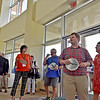 (Brad Davis/The Register-Herald) Students and others marvel at the brand new Student Center on the campus of the West Virginia School of Osteopathic Medicine during an open house event following a ribbon cutting Friday afternoon in Lewisburg.