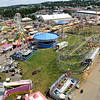 View of the West Virginia State Fair in Fairlea from the Dutch Wheel.<br /> (Rick Barbero/The Register-Herald)