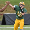 (Brad Davis/The Register-Herald) Greenbrier East quarterback Devin Persinger throws Friday night in Fairlea.