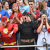 Independence student section react after a touchdown was scored in the first quarter against Pikeview Friday night on George D Covey Field at Independence High School.<br /> (Rick Barbero/The Register-Herald)