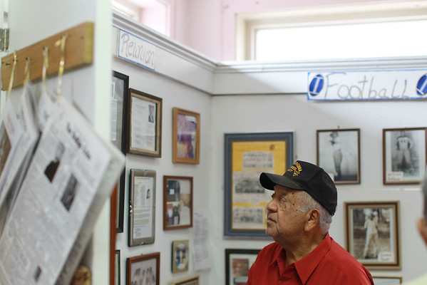 Robert Toles looks over the DuBois on Main museum. (Chris Jackson/The Register-Herald)