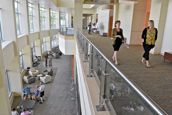 (Brad Davis/The Register-Herald) Attendees tour the new Student Center on the campus of the West Virginia School of Osteopathic Medicine Friday afternoon in Lewisburg.