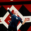 Meadow Bridge's Kaylie Persinger (5) serves the ball during their match against Liberty at Oak Hill on Tuesday. (Chris Jackson/The Register-Herald)