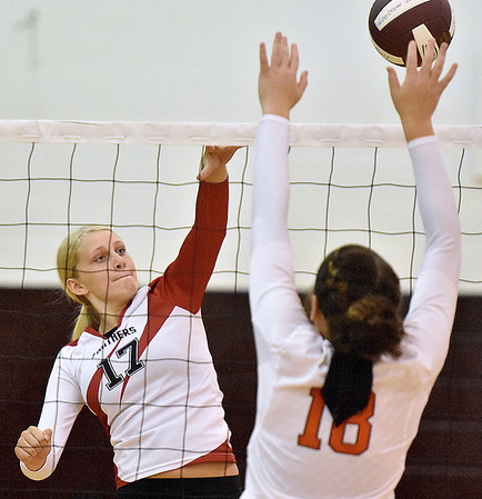 (Brad Davis/The Register-Herald) PikeView's #17 hits the ball against South Charleston during the Shirley Brown Invitational Saturday morning at Woodrow Wilson High School.