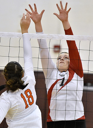 (Brad Davis/The Register-Herald) PikeView's Abby Lester defends against South Charleston during the Shirley Brown Invitational Saturday morning at Woodrow Wilson High School.