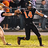 (Brad Davis/The Register-Herald) Summers County's Christian Pack against Shady Spring Friday night in Hinton.