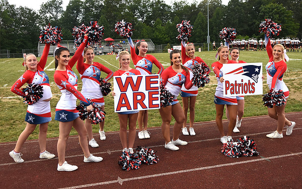 Independence cheerleader during game against Pikeview Friday night on George D Covey Field at Independence High School.<br /> (Rick Barbero/The Register-Herald)