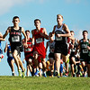 Boys cross country start during  a cross country invitational at the Pinecrest Industrial Park in Beckley on Tuesday. (Chris Jackson/The Register-Herald)