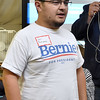 (Brad Davis/The Register-Herald) Area resident Sean Rodriguez voices his concerns prior to a live YouTube event featuring former presidential candidate Bernie Sanders from Burlington, Vermont Wednesday night at 110 Marshall.