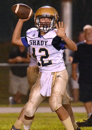 (Brad Davis/The Register-Herald) Shady Spring quarterback Joe Cantley Friday night in Hinton.
