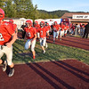 (Brad Davis/The Register-Herald) The Raiders take the field propr to their game against Westside Friday night in Glen Daniel.