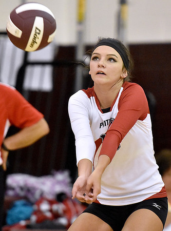 (Brad Davis/The Register-Herald) PikeView's Mackenzie Bridges returns the ball against South Charleston during the Shirley Brown Invitational Saturday morning at Woodrow Wilson High School.