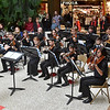 (Brad Davis/The Register-Herald) Members of The New River Youth Symphony Orchestra perform a few songs for holiday shoppers at the Crossroads Mall Saturday afternoon.