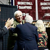 Governor-elect Jim Justice surprised Dave Barksdale for a brief speech about the coaches tenure during the Spirit of Beckley Awards Monday at the Beckley-Raleigh County Convention Center. (Chris Jackson/The Register-Herald)