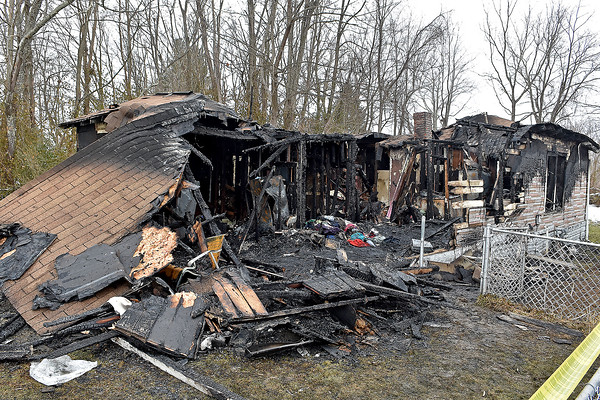 A residence on Broadway Street is left in ruins after a fire that started sometime after 7:30 p.m. Thursday night.