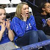 Beckley Stratton defeated Shady Spring Middle school 33-24 in the semi-final game of The Big Atlantic Classic held at the Beckley-Raleigh County Convention Center Monday afternoon. Pictured from left, Alekus Mays, 8th grade Beckley Stratton, Kelli Mays and Kennet Bradley, cheerleading coaches Beckley Stratton.