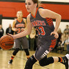 (Brad Davis/The Register-Herald) Summers County's Hannah Taylor dribbles the ball Thursday night in Glen Daniel.