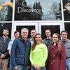 Members of the Active Southern West Virginia team and supporting community members pose for a quick photo outside of the Coal Heritage Discovery Center during a break in a tour around downtown Mount Hope Wednesday afternoon. In the front row from left to right are William Massey, chairman of ASWV, Melanie Seiler, Executive Director or ASWV and Claire Rozdilski Outdoor Recreation Planner for the National Park Service. In the back row from left are Andy Davis, working with ASWV through Americorps, Phil Waidner, Wheels Program Manager for the Boy Scouts of America Summit Group, Raleigh County Cycle Club's Gary Moorefield, Marathon Bikes' Adam Stephens and West Virginia State University's Adam Hodges.