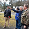 From left, Andy Davis, Bicycle and Pedestrian Trail Coordinator for Active Southern West Virginia, BSA Summit Group's Phil Waidner, ASWV Chairman William Massey and Raleigh County Bicycle Club's Gary Moorefield look over some areas around the downtown Mount Hope area set for upcoming development projects during a visit to the town Wednesday afternoon.