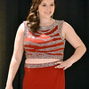 (Brad Davis/The Register-Herald) A model shows off a prom dress during the fashion show portion of the Bridal, Prom and Special Occasions Fair Saturday afternoon at the Beckley-Raleigh County Convention Center.