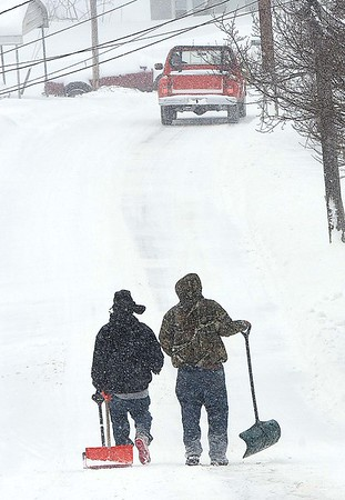 Rick Barbero/The Register-Herald<br /> Ewart Ave in Beckley. The winter Storm Jonas blasted the area with approximately 16 inches of snow.