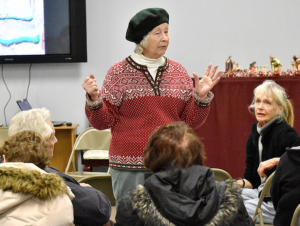 Brad Davis/The Register-Herald<br /> Area resident Sylvia Allen speaks during a celebration of Fayette County's fracking waste ban Tuesday night at Brethren Fellowship Center in Oak Hill.